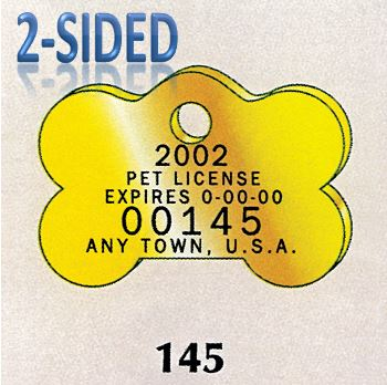 pet tag and dog licence tags, Brass